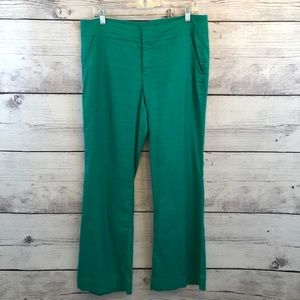 Anthropologie Level 99 Petite Pants Green Trousers